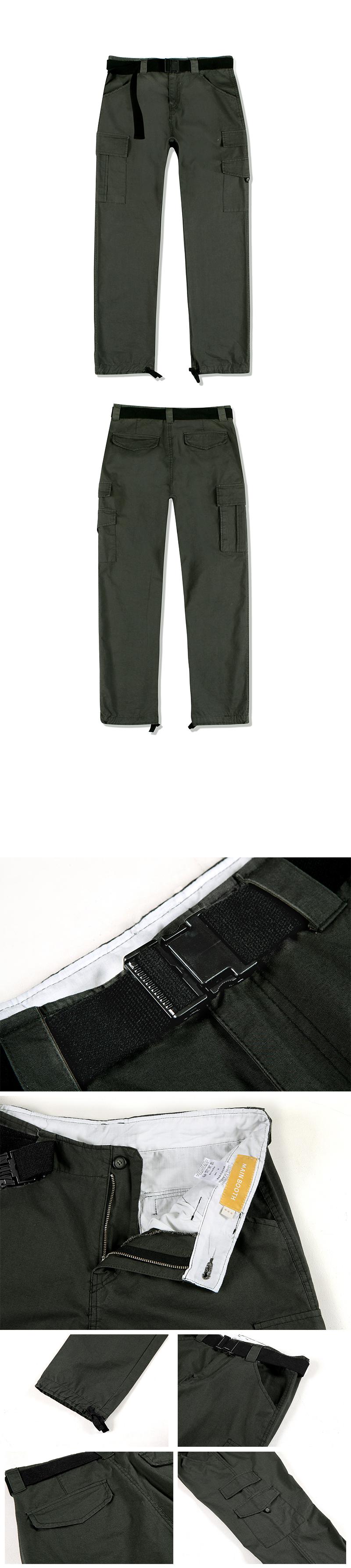 메인부스(MAINBOOTH) Belt Cargo Pants(KHAKI)