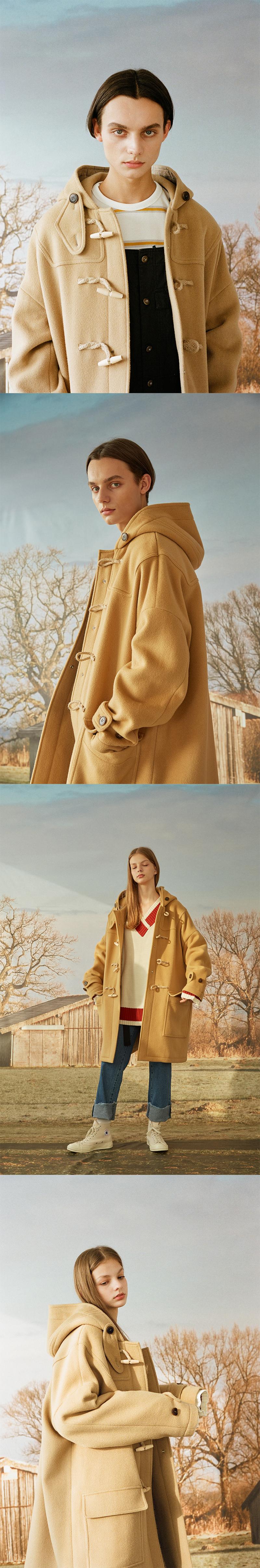 메인부스(MAINBOOTH) 8F Oversized Duffle Coat(GRAY)