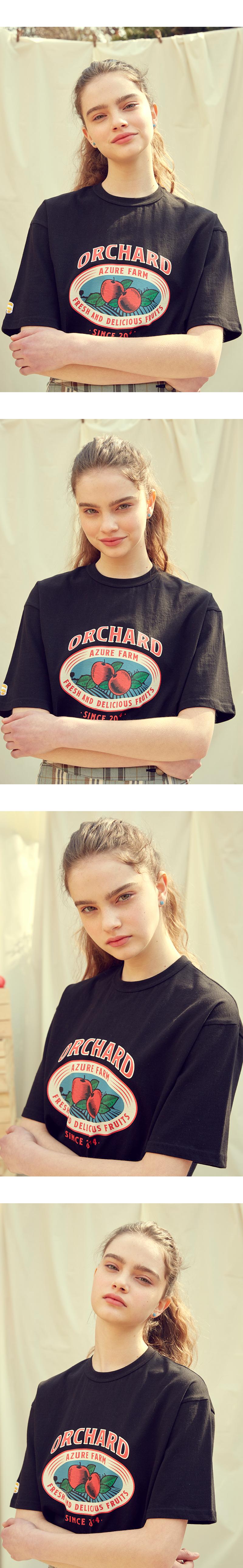메인부스(MAINBOOTH) Apple T-shirt(BLACK)