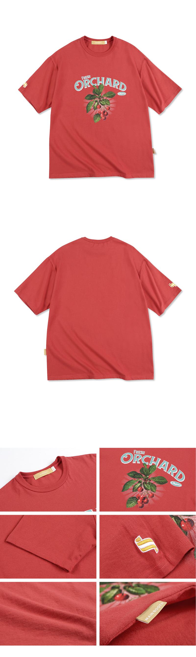 메인부스(MAINBOOTH) Cherry T-shirt(RED)