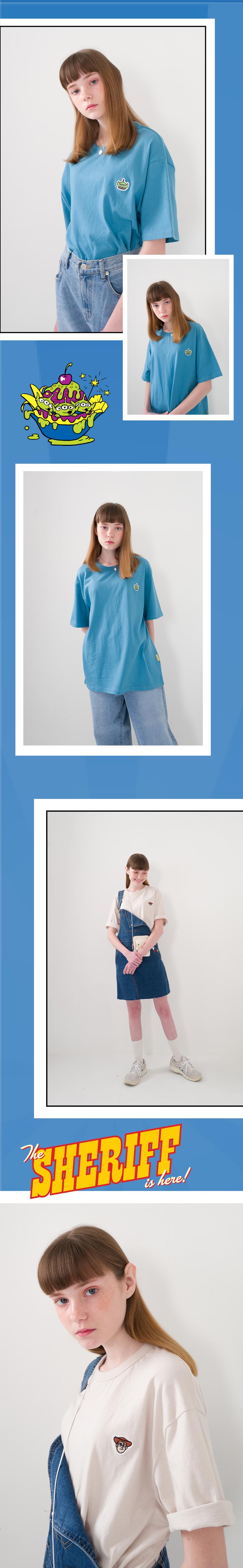 메인부스(MAINBOOTH) Toy Face Basic T-shirt(LIGHT BEIGE)