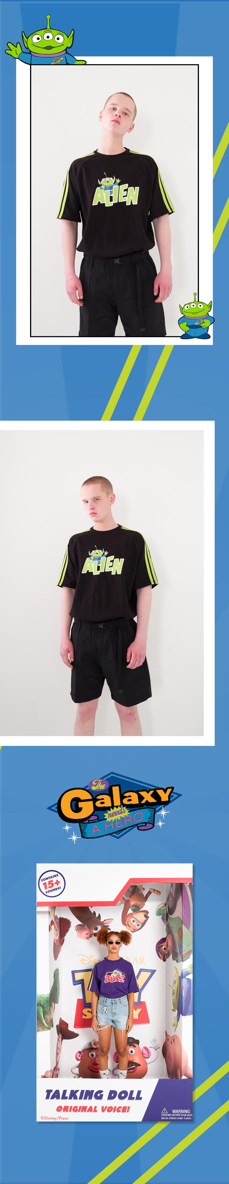 메인부스(MAINBOOTH) Toy Story Tape T-shirt(BLACK)
