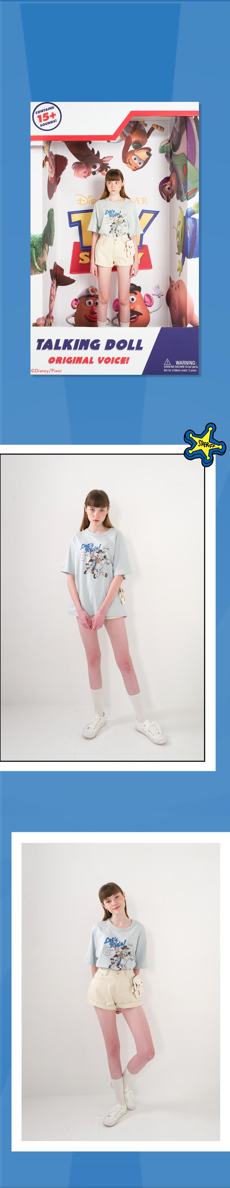 메인부스(MAINBOOTH) Woodys Round-up T-shirt(LIGHT BEIGE)