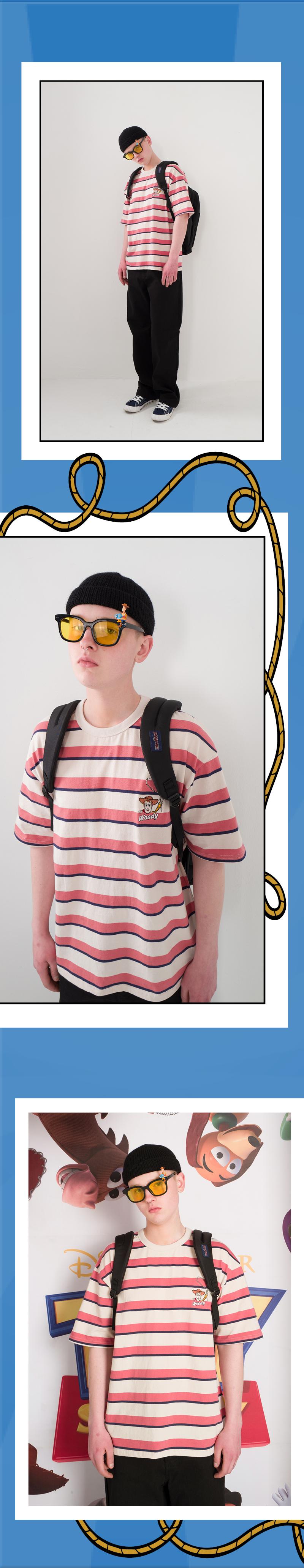 메인부스(MAINBOOTH) Woody Stripe T-shirt(NAVY STRIPE)